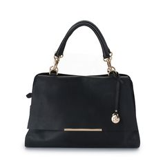 The next classic  After popular demand we have created the ultimate day to night tote, the smaller version of our #1 selling bag the Marguerite Tote Style yourself in luxury and let miss Mable be your next best friend in our signature cowhide licorice leather Features 3 inner compartments, front zipper section under flap and adorned with chic gold hardware Carry with the short handles or the extendable long leather strap Complete the look with the Marguerite Wallet