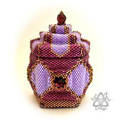 Beaded Box Pattern Arabesque Peyote Stitch Box with Lid pdf
