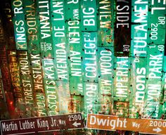 street sign collage would be fun