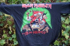 IRON MAIDEN T-SHIRT TEN YEARS EDDIE JUDGE VINTAGE BAND HEAVY METAL  | Clothes, Shoes & Accessories, Men's Clothing, T-Shirts | eBay!