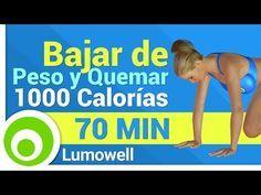 Ejercicios para Bajar de Peso y Quemar 1000 Calorías - YouTube