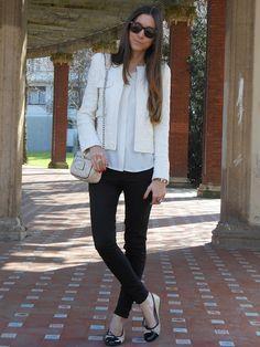 jacket/blouse/flats