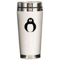 Penguin Ceramic Travel Mug
