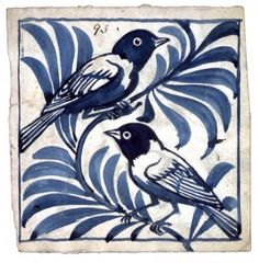 Blue Birds - tile designed by William de Morgan
