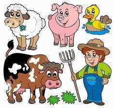 Brincar de Faz de conta Fazendinha com animais, celeiro e trator para imprimir e plastificar as peças do cenário de uma fazenda        ...