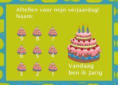 Aftellen verjaardag