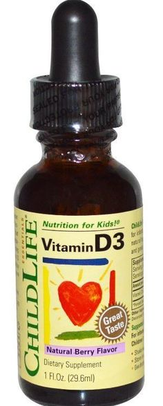 Essentials Vitamin D3 Natural Berry Flavor 1 fl oz (29.6 ml) Bone Health Support…