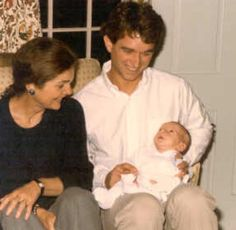 Jacqueline and nephew Bobby Kennedy Jr. with his first child Bobby III. Repinned