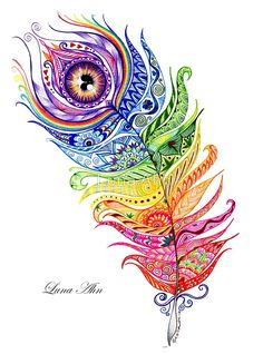 Rainbow Feather Mandala 😍 Gorgeous work by 🎨 What a beautiful way to embrace all of your colours. ( Creativity will take away all of the weight on your shoulders leaving you as light as a feather. off on all therapies limited time only! Mandala Art, Image Mandala, Mandala Drawing, Feather Drawing, Feather Art, Feather Tattoos, Mandala Feather, Peacock Feather Tattoo, Feather Painting
