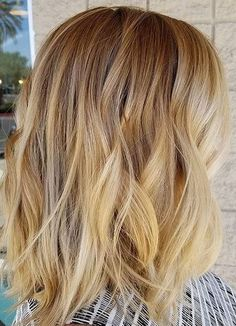 blonde root shadow hair color idea