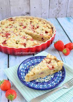 Rhubarb Desserts, Rhubarb Recipes, Cheesecake Desserts, Pie Dessert, Dutch Recipes, Sweet Recipes, Baking Recipes, Delicious Desserts, Yummy Food