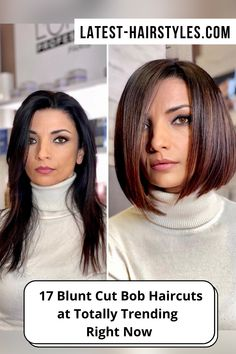 Looking for hairstyles perfect for oval, square, or heart-shaped faces? Latest-Hairstyles has 14 popular blunt bob haircuts. Just click the image to see all. Photo credit: Instagram (Photo credit IG @vitosatalino_official) Latest Hairstyles, Bob Hairstyles, Bob Rock, Blunt Bob Haircuts, Blunt Cuts, Square Faces, Face Shapes, Hairstyle Ideas, Short Hair Cuts