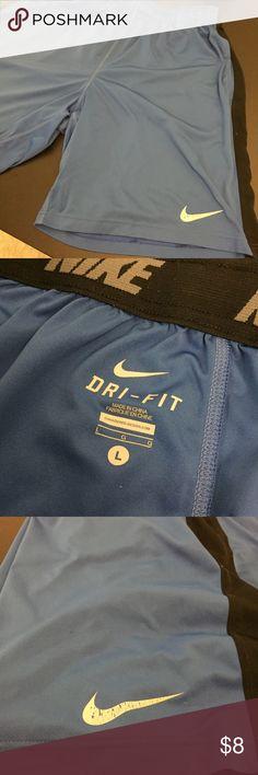 d902825ba22e6f Nike royal blue dri-fit training shorts men s L These are a pair of large royal  blue black Nike dri-fit workout shorts that hit at the knee.