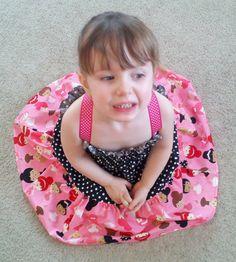Ballerina Adjustable Shirred Twirl Dress Stretchy mock