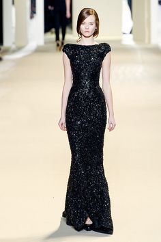 Elie Saab Fall 2011 - a bit too bling for me, but a fabulous silhouette, so I think I could make do.