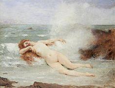 "Henri Gervex ""The Birth of Venus"", 1907, oil on canvas, Dimensions: height  : 160 cm. width  : 200 cm, current location:  Petit Palais , Paris."