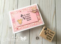 Check out our new line of baby craft stamps in the handmade card tutorial!