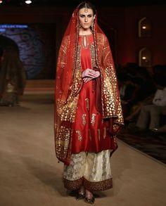 63c89240dc Bajirao Mastani Indian wedding wear · Bajirao Mastani Red Kalgi Embroidered  Kurta Set - Anju Modi - Designers Kurta Skirt, Red
