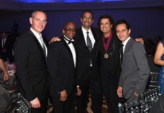(L-R) BMI President and CEO Mike O'Neill, Sergio George, Kike Santander, Carlos Vives and Marc Anthony attend BMI's 22nd Annual Latin Music Awards at Fountainbleau Miami Beach on March 31, 2015 in Miami Beach, Florida.