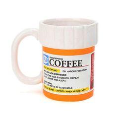 Prescription Coffee Mug, $16, now featured on Fab.
