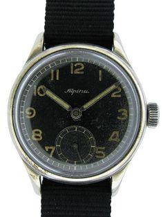1940s Alpina Luftwaffe pilot watch by Alpina Watches, via Flickr