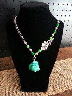 Green Leaf Necklace on Etsy, $19.00