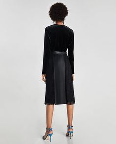 66d157853699 Image 5 of COMBINED PLEATED SKIRT from Zara Skirts