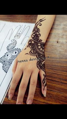body parts. The designs that you can create are endless, which makes it great for those who have a creative mind! Hos last quite some time, look great, and flatter all skin tones! SO check out these 14 stunning henna tattoo designs! Henna Ink, Henna Body Art, Mehndi Tattoo, Henna Tattoo Designs, Mehndi Art, Henna Mehndi, Wrist Henna, Hand Wrist, Mandala Tattoo