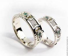 """Купить Обручальное кольцо """"Византийское"""" - золотое кольцо, кольцо из белого золота, обручальное кольцо"""