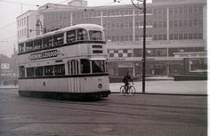 This is one of two similar photos on this site. The comments below were kindly supplied by members after my original request asking if anyone knew the location. Sheffield City, Light Rail, Local History, Coventry, Train Travel, Public Transport, Buses, Glasgow, Black History