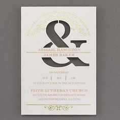Celebrate and Shine Wedding Invitation 40% Off | http://mediaplus.carlsoncraft.com/Wedding/Wedding-Invitations/3214-MM13567-Celebrate-and-Shine--Invitation.pro | MM13567 It's the gold foil. And the ampersand. And the vintage scrolls. And the typography. Yes - everything about this wedding invitation is all about your style!