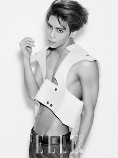 "SHINee's Jonghyun in ""Honest & Sexy"" for Elle Korea February 2015. Photographed by Kim Hyeongsik"