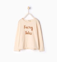 Text appliqué top-View all-T-shirts-Girl-Kids | 4-14 years-KIDS | ZARA United States