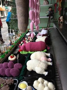 Amazing yarnbombed butchers!