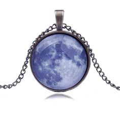Blue Earth Starry Sky Time Diamond Necklace