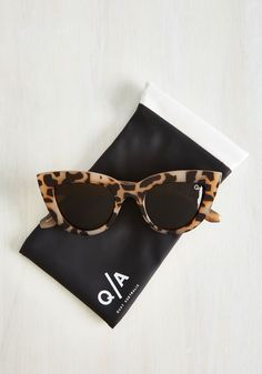 Big City Kitti Sunglasses in Tortoiseshell. You radiate an urban chic essence when flaunting these spectacular Kitti shades from Quay! #brown #modcloth