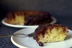 updside down cranberry cake