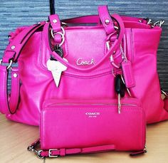 I love pink. I love Coach, and I love matching bags. This is everything I need.