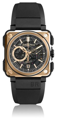 BR-X1 SKELETON CHRONOGRAPH - CARBONE FORGE - LIGHTWEIGHT, STRONG AND ERGONOMIC and BR-X1 ROSE GOLD & Ceramic