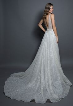 Detachable Sparkle Overskirt by Love by Pnina Tornai - Image 2 Wedding Dress Prices, Western Wedding Dresses, Cheap Wedding Dress, Dream Wedding Dresses, Wedding Dress Sparkle, Sparkly Gown, Sparkly Skirt, Colored Wedding Gowns, Wedding Dress Preservation