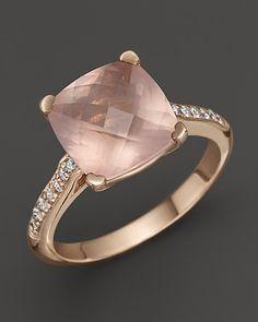 Lisa Nik 18K Rose Gold Rose Quartz and Diamond Ring   Bloomingdale's ...IN MY DREAMS