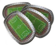 Pappteller Fußball-Stadion