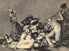 """Francisco de Goya drew many scenes of the Napoleonic wars in Spain such as this entry into the """"Desastres de la Guerra"""" (Disasters of War) series of engravings."""