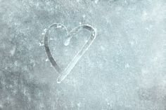 Would be so cute to do this in a frosty window on a wedding day.