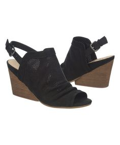 Love this Black Luxor Leather Wedge on #zulily! #zulilyfinds