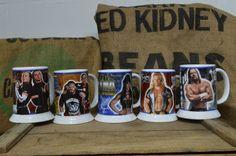 World Wrestling Federation WWF Collector Steins Jericho hHh Danbury Mint - 5 pcs #DanbburyMint