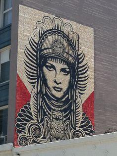 Shepard Fairey ..Street Art in Downtown LA