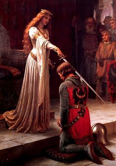 Edmund Blair Leighton, The Accolade, circa 1901