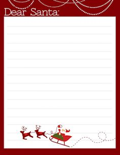 Superb FREE Letter To Santa Templates   Notes To Or From Santa