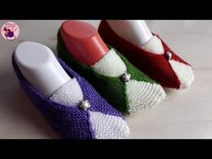 Napkin Rings, Slippers, Knitting, Bracelets, Diy, Shoes, Youtube, Fashion, Tricot